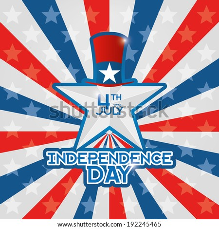 Vector American Independence Day Background Editable