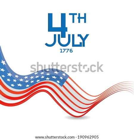 Vector American Independence Day Background Template Editable - stock vector