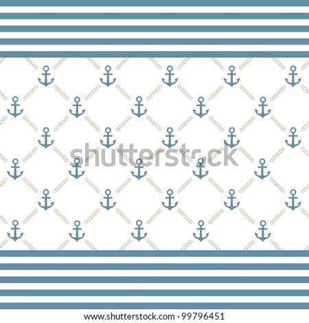 Vector anchor background - stock vector