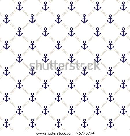 Vector anchor pattern - stock vector