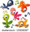 vector animal set 30: birds - stock vector