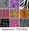 vector animal skin texture - stock vector