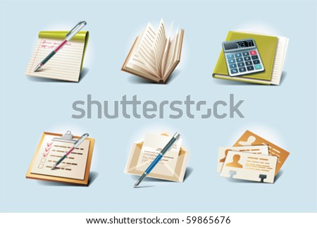 Vector application icons. Part 1 - stock vector