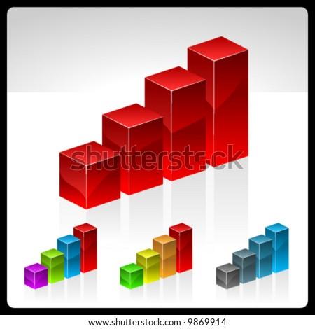 vector aqua diagram - stock vector