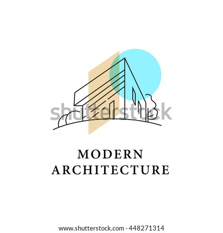 Vector Architect Studio Logo Design Isolated Stock Vector