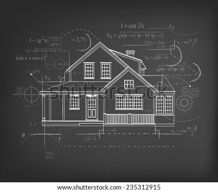 vector Architecture Project - stock vector