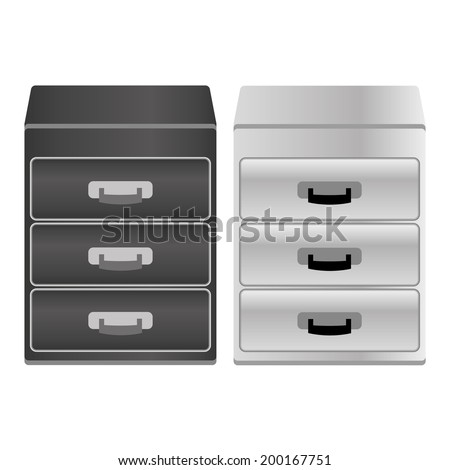 Vector archive filling cabinet icon - stock vector