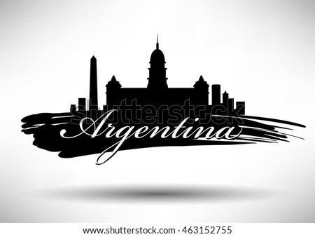 Vector Argentina Skyline Design