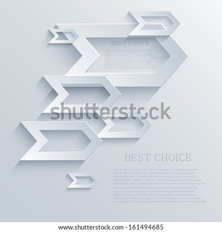 Vector arrow background. Eps10 - stock vector