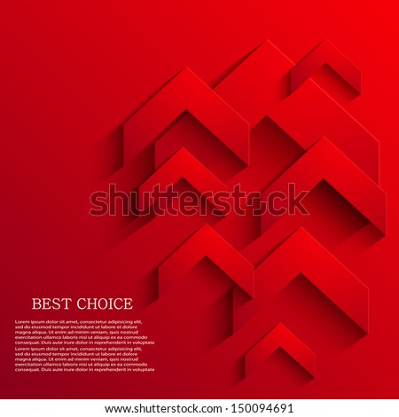 Vector arrow background. Footage variant also in portfolio. Eps10 - stock vector