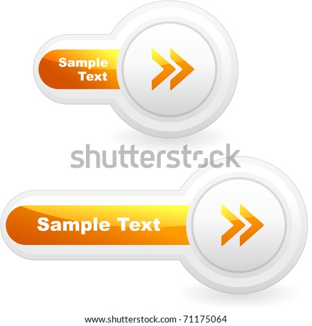 Vector arrow buttons for web. Next circle icon. - stock vector