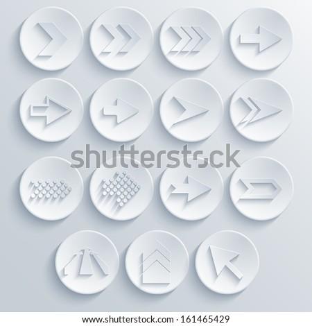 Vector arrow circle icon set. Eps 10 - stock vector
