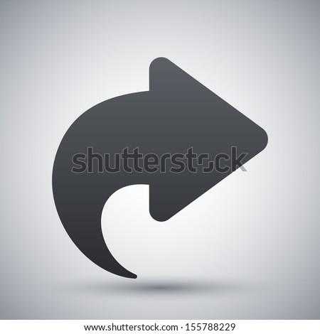 Vector arrow icon - stock vector