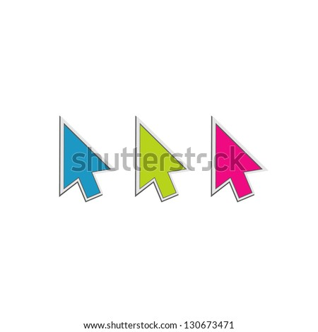 vector arrows - stock vector