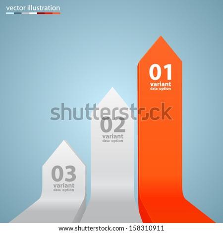 Vector arrows business growth - stock vector