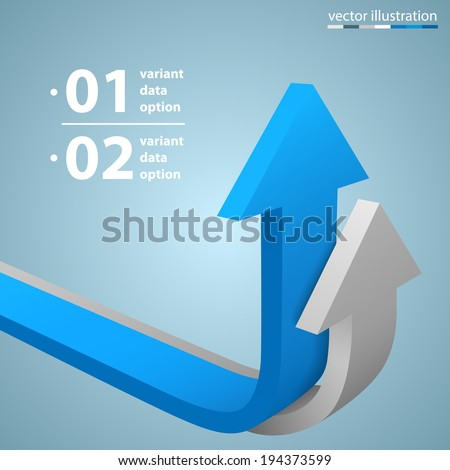Vector arrows business growth - stock vector