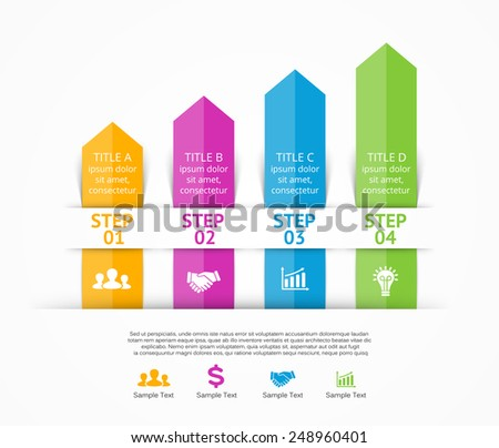 Vector arrows infographic. Template for diagram, graph, presentation and chart. Business concept with 4 options, parts, steps or processes. Abstract background. - stock vector