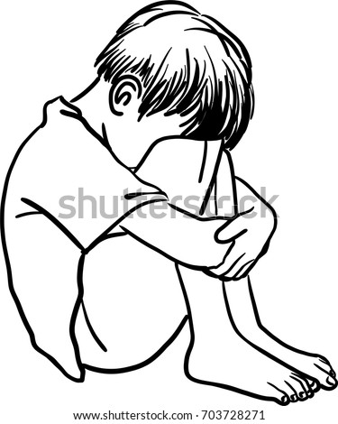 Hugging Knees Drawing Mount Mercy University