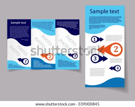 Vector art graphic illustration of editable brochure - stock vector