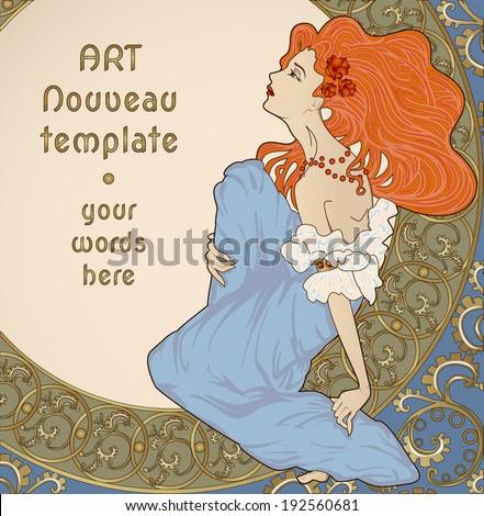 art nouveau woman stock images royaltyfree images