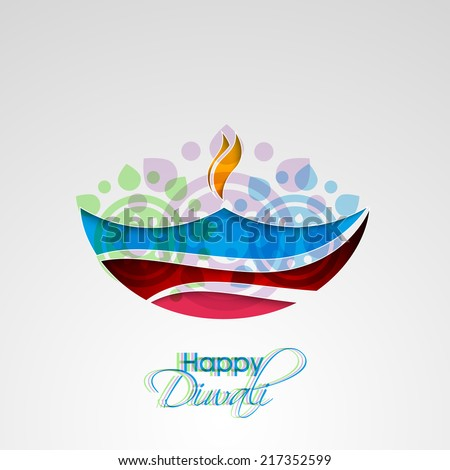 Vector artistic diya for Diwali festival can be used for print and publishing. - stock vector