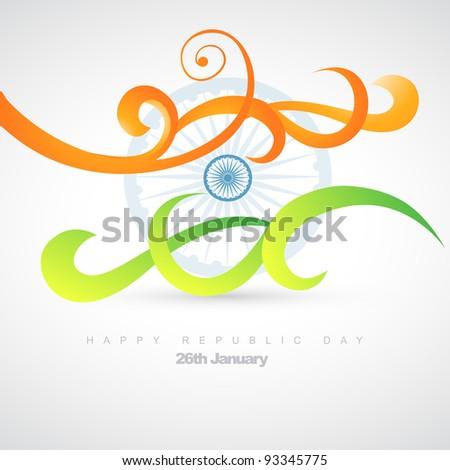 vector artistic indian flag design illustration - stock vector