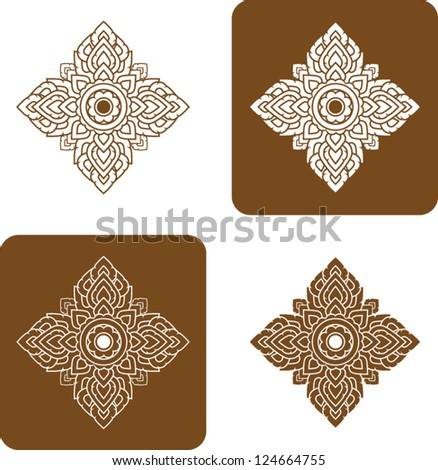 Vector artistic of traditional line thai. - stock vector