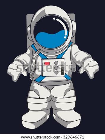 vector astronaut design - stock vector