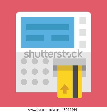 Vector ATM Icon - stock vector
