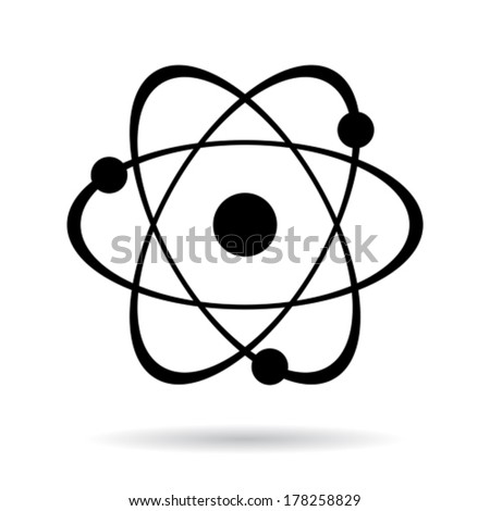 Vector atom icon - stock vector