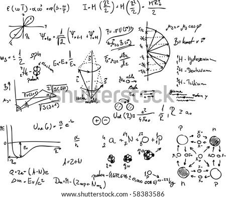 Vector Atom Quantum Physics Molecule Hydrogen Stock Vector 58383586