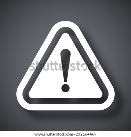 Vector attention icon - stock vector
