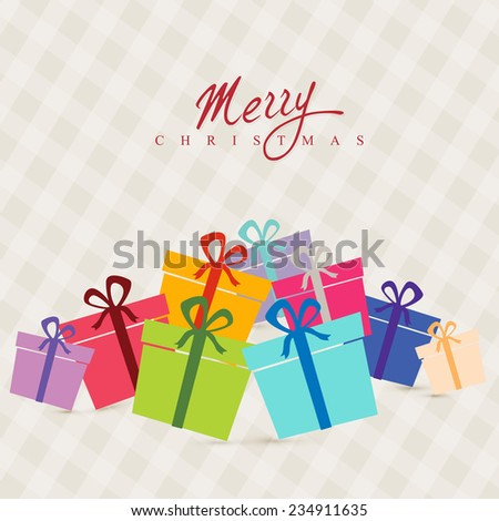 vector attractive background of christmas festival