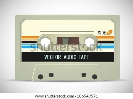 vector audio tape - stock vector