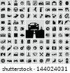 Vector auto icons set - stock photo