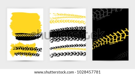 Vector Automotive Posters Template Grunge Tire Stock Vector ...