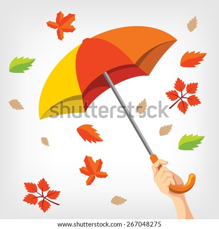 Vector autumn illustration - stock vector