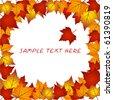 Vector autumn leaves  frame - stock vector