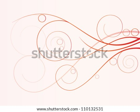 Vector autumn spring background with floral elements - stock vector