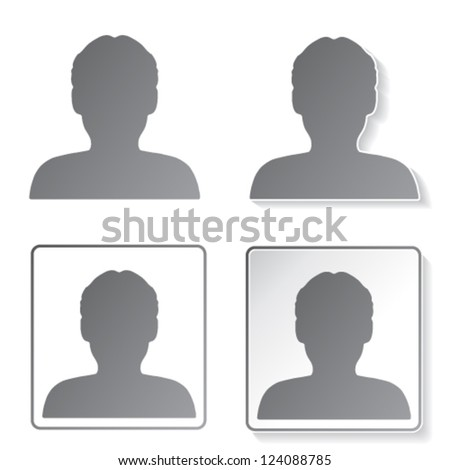 Vector avatar icons, buttons - human, user, member - stock vector