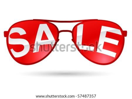 vector aviators sale icon