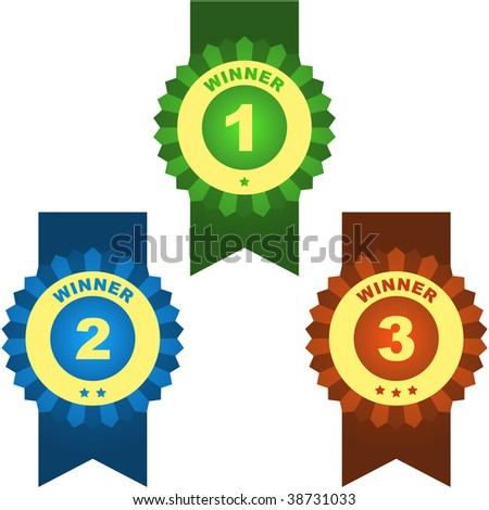 Vector award with place numbers - stock vector