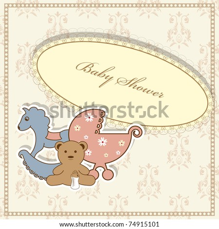 vector baby shower greeting card