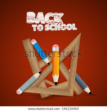 Vector Back to school theme - stock vector