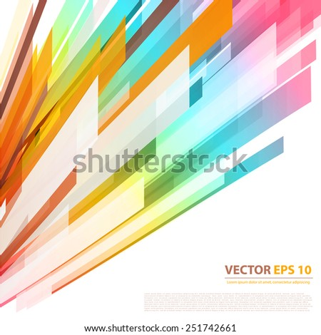 Vector background abstract lines. design geometrical - stock vector