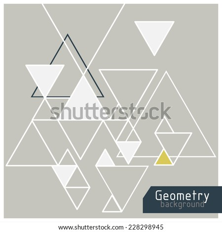vector background, abstract triangles - stock vector
