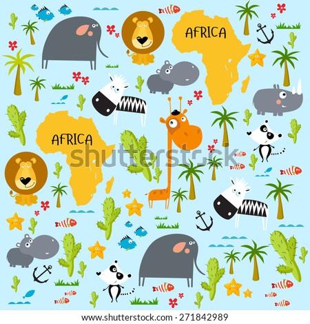 """Vector background """"Africa"""" - stock vector"""