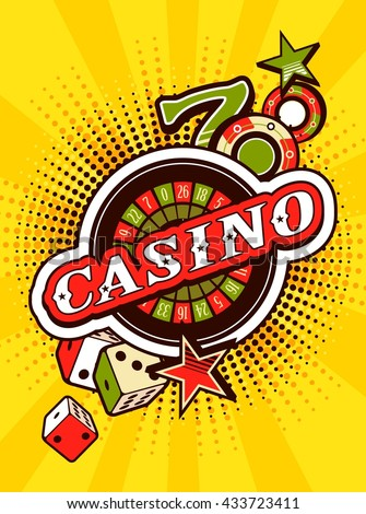 vector background beams casino with signs of winning and luck