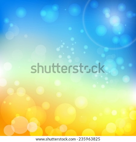 Vector background Blue sky and Yellow sand
