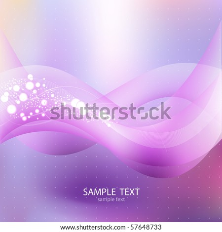 Vector Background. Bright Lights. - stock vector